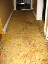 Asbestos in lino and carpet: Test before you rip!