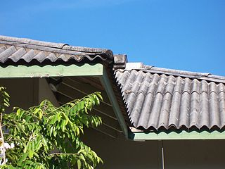 Corrugated fibro roofing