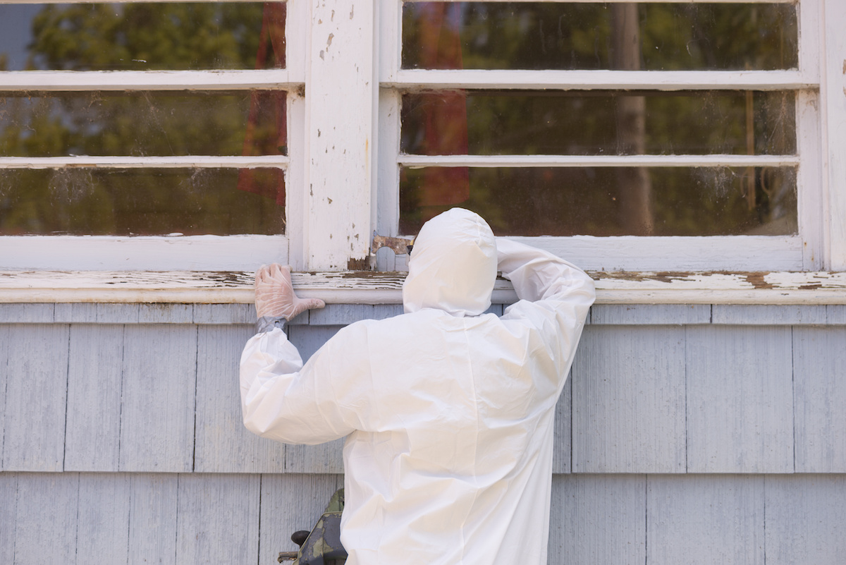 safely removing lead paint