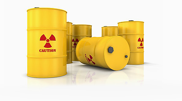 Toxic chemical barrels